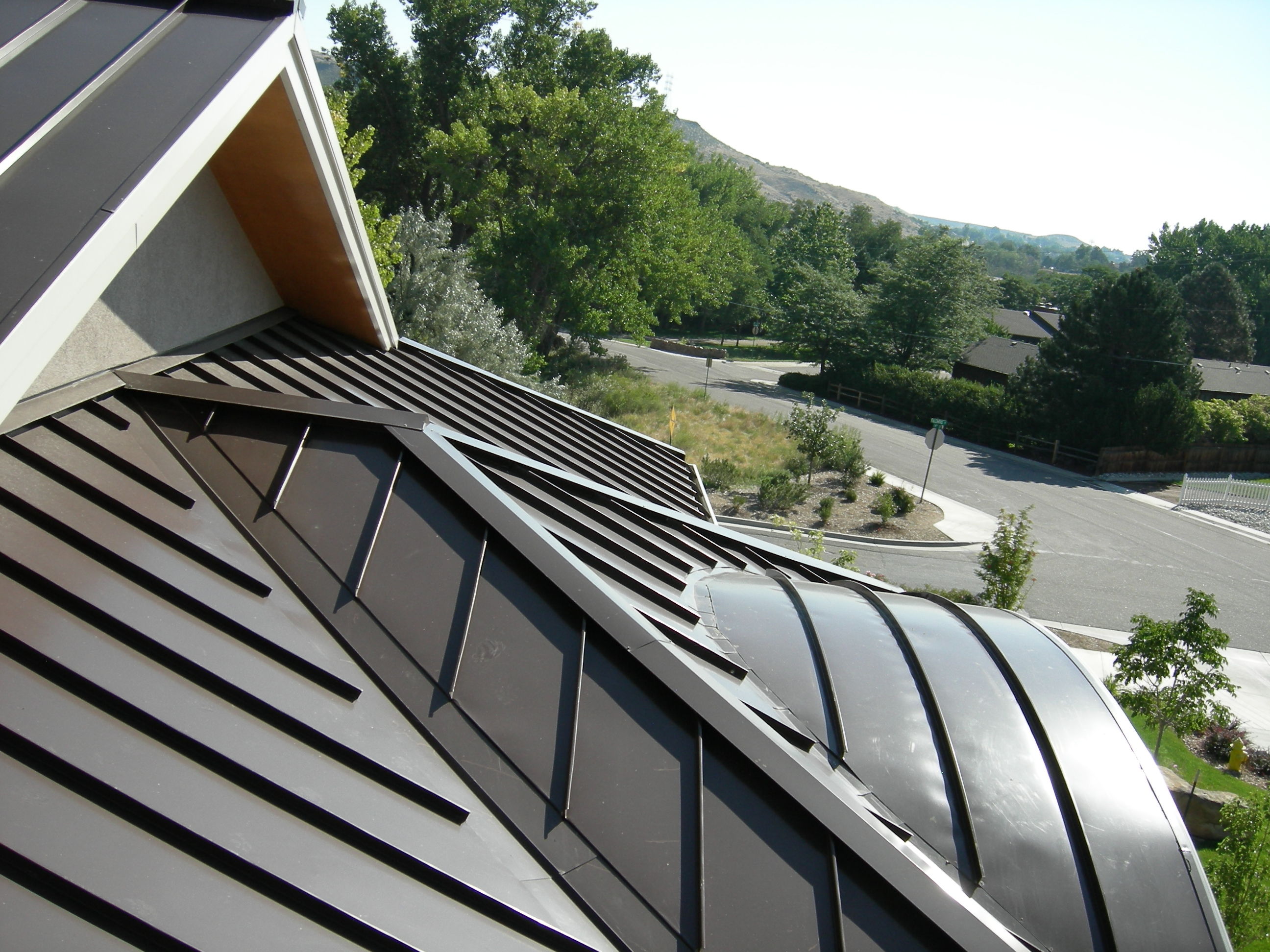 metal standing seam curved roof denver co