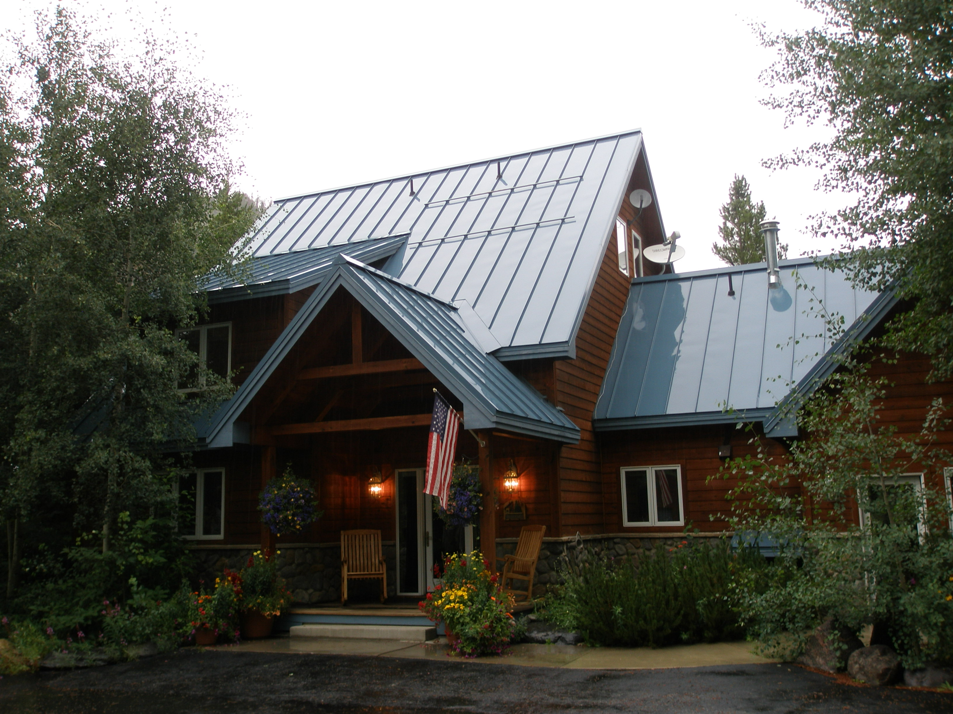 mountain home standing seam metal roof