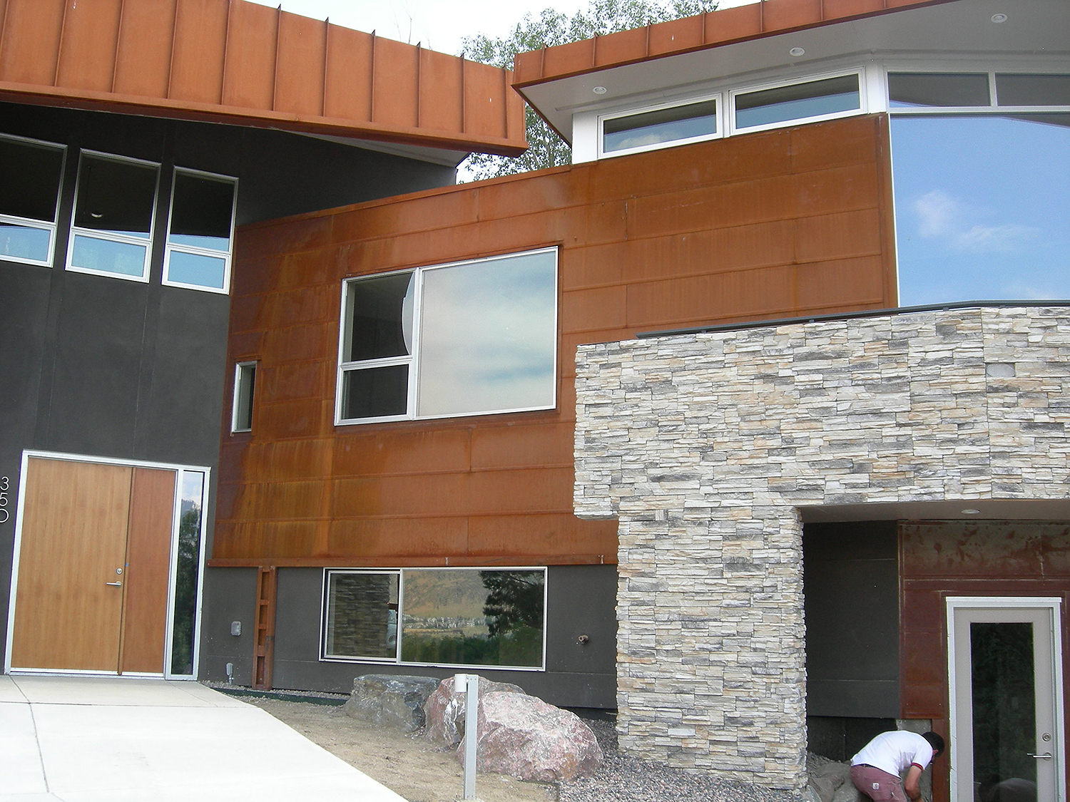 Cold rolled steel siding and fascia
