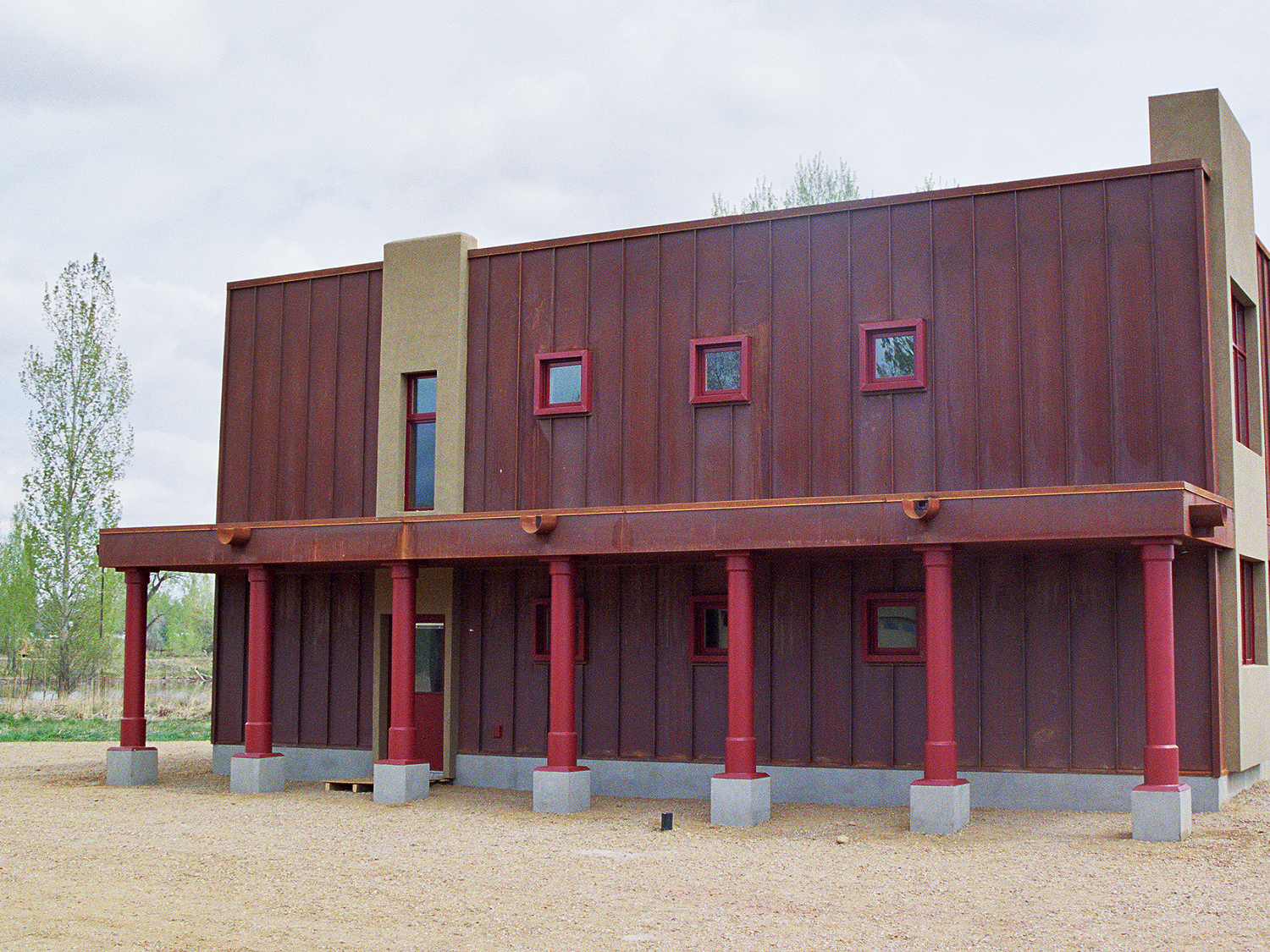 Cold rolled steel standing seam panel siding