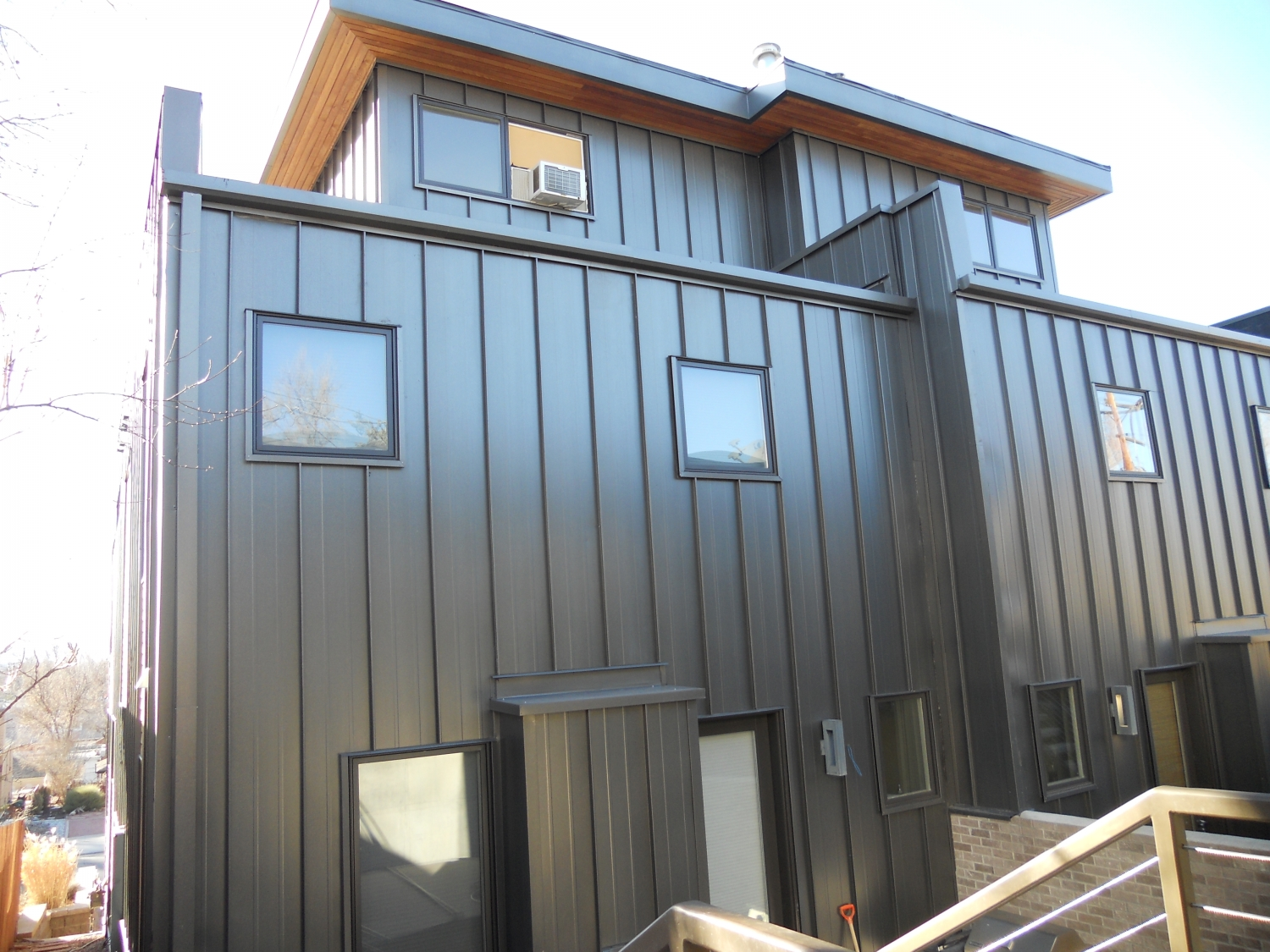 Vertical metal siding