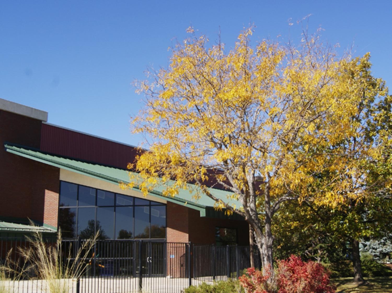 standing seam metal roof on rec center in northglenn